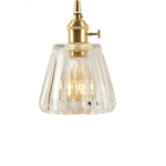 Glass with Gold Holder Pendant Light