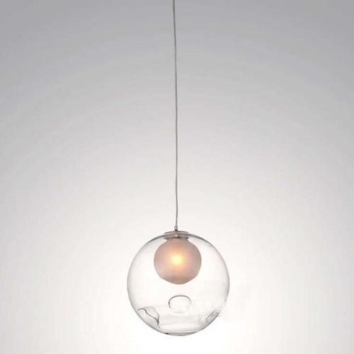 Clear Glass Ball Pendant Light
