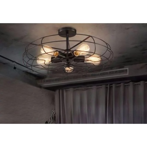Retro Caged Fan Chandelier