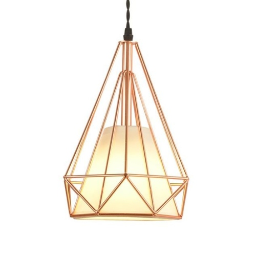 Rose Gold Pendant Light with Shade