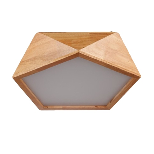 Wooden Pentagon Ceiling Light