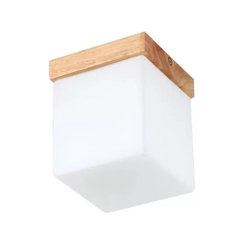 Wooden Cube Entrance Ceiling Light