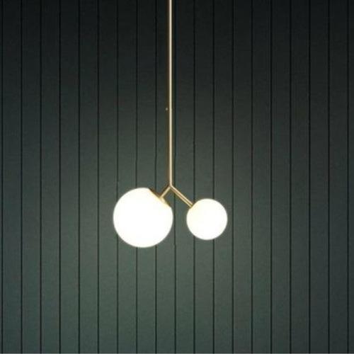 Forked Double Globe Pendant Light