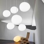 Egg Shape Glass Pendant Light
