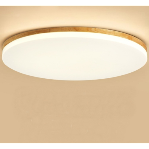Back Wood Round Ceiling Light