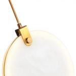 White Marble Disc Pendant Light