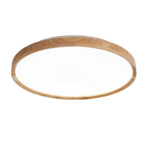 Slim Wooden Round Ceiling Light (Acrylic)
