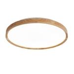Slim Wooden Round Ceiling Light Acrylic