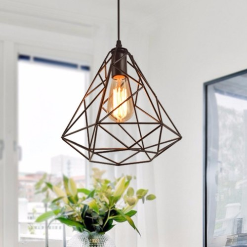 Pyramid Cage Pendant Light