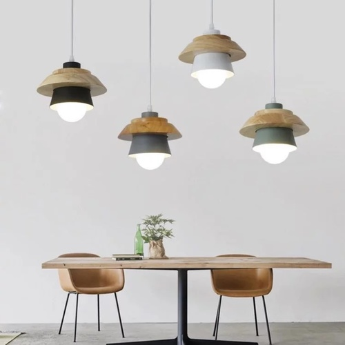 Cone with Wood Shade Pendant Light (SPECIAL SALE)