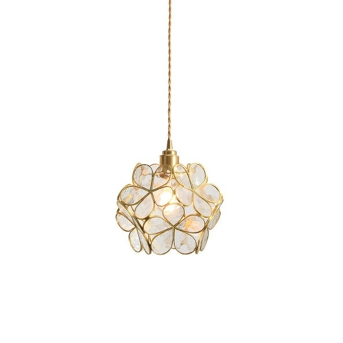 Glass Flower Pendant Light