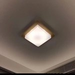 Wooden Square Ceiling Light