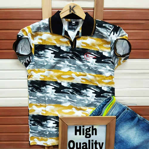 Men's Half Sleeve Round Neck Cotton T-Shirt K