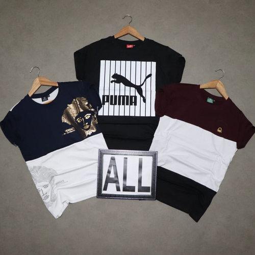 Men's Half Sleeve Round Neck T-Shirt Combo