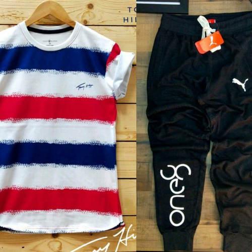 Mens T-shirt & Track Pant Combo
