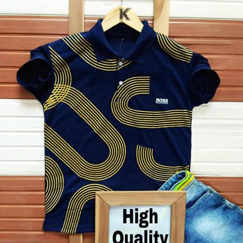 Men's Branded Half Sleeve Cotton T-Shirt K