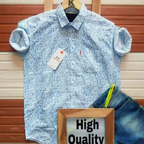 Men's Branded Cotton Shirt K
