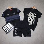 Mens T-shirt ( 2 No.s ) & Shorts Combo