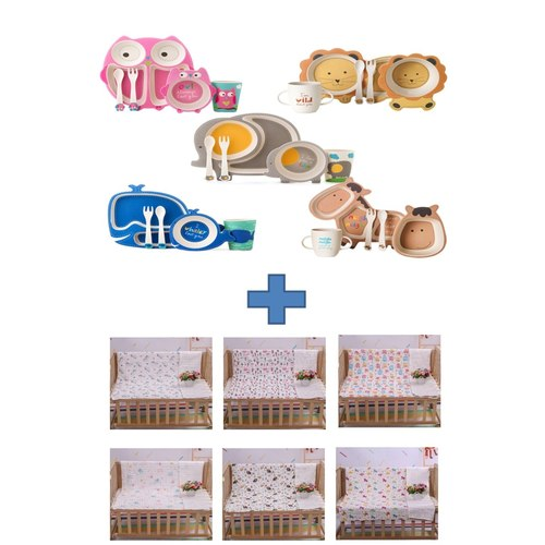 One Tableware Set and One Blanket FREE a gift box