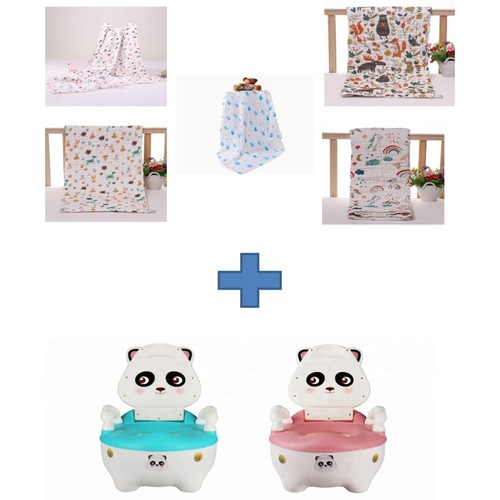 One Potty Set and One Bath Towel FREE a gift box for Bath Towel