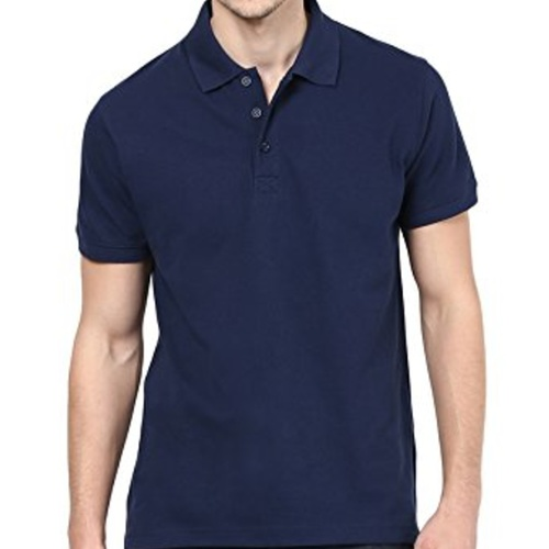 Navy Blue  Polo neck half sleeves tee