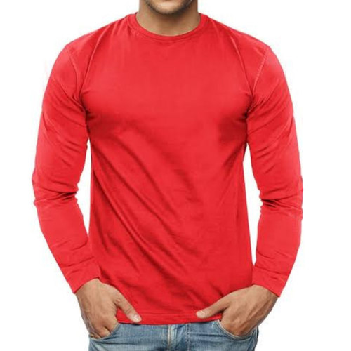 Men's Red Full sleeves T-shirt