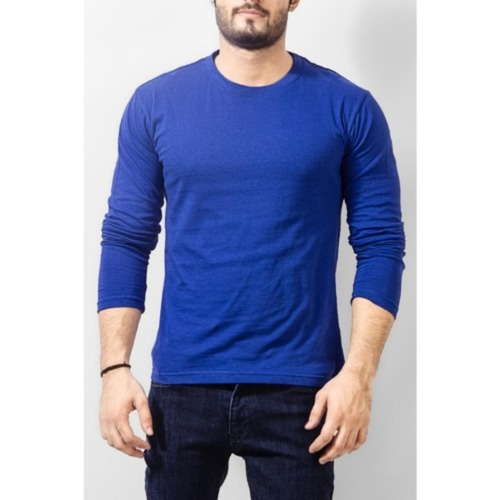 Men's Royal Blue Full sleeves T-shirt