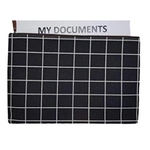 Black and white Simple checks A4 document sleeve