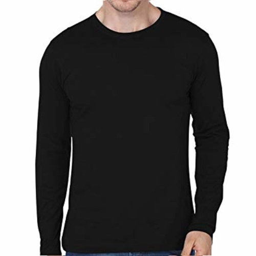 Men's Black Full sleeves T-shirt