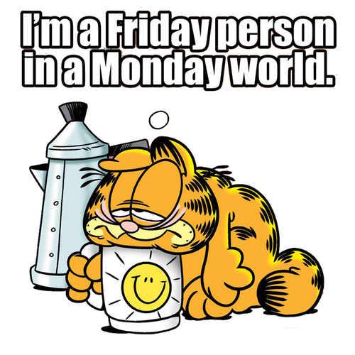 I Hate Mondays-Garfield edition