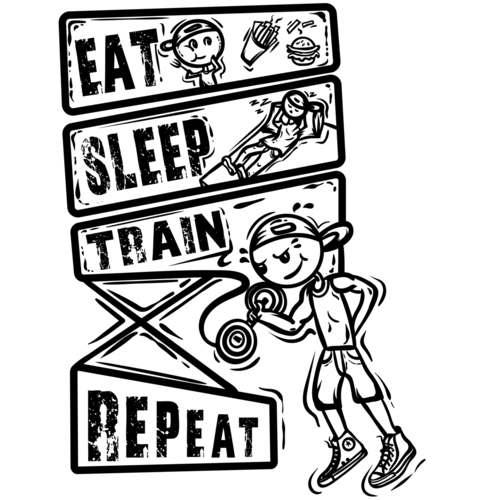 Eat-sleep-train Repeat