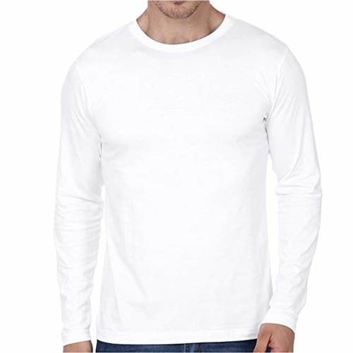 Men's White full sleeves T-shirt