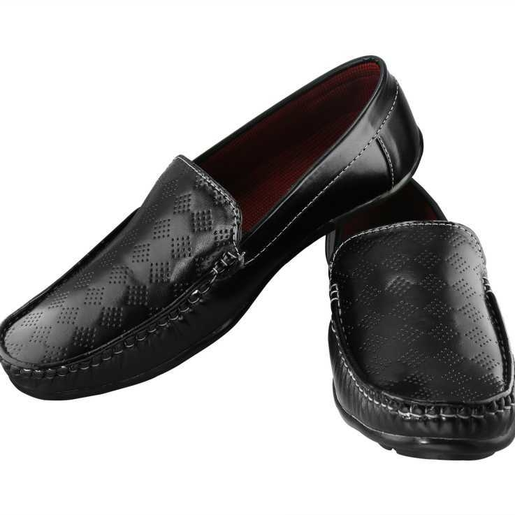 Men's Trendy Style Casual Loafers Shoes Loafers For Men(Black)