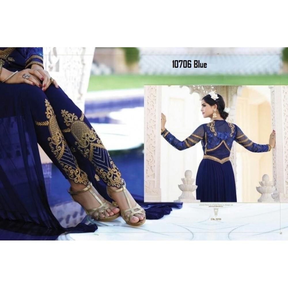 La'Facon Royal Georgette Semi-Stitched Salwar Suit