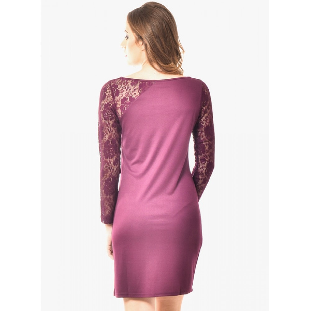 Lafacon-Wine-Embroidered-Dress