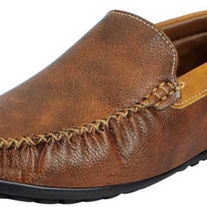 Men's Brown Loafers Boat and Casual Shoes Mocassin For Men(Brow