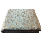 Grey Colour and Golden Floral Design Bamboo Jacquard Silk Fabric, Festival, (1 Meter)