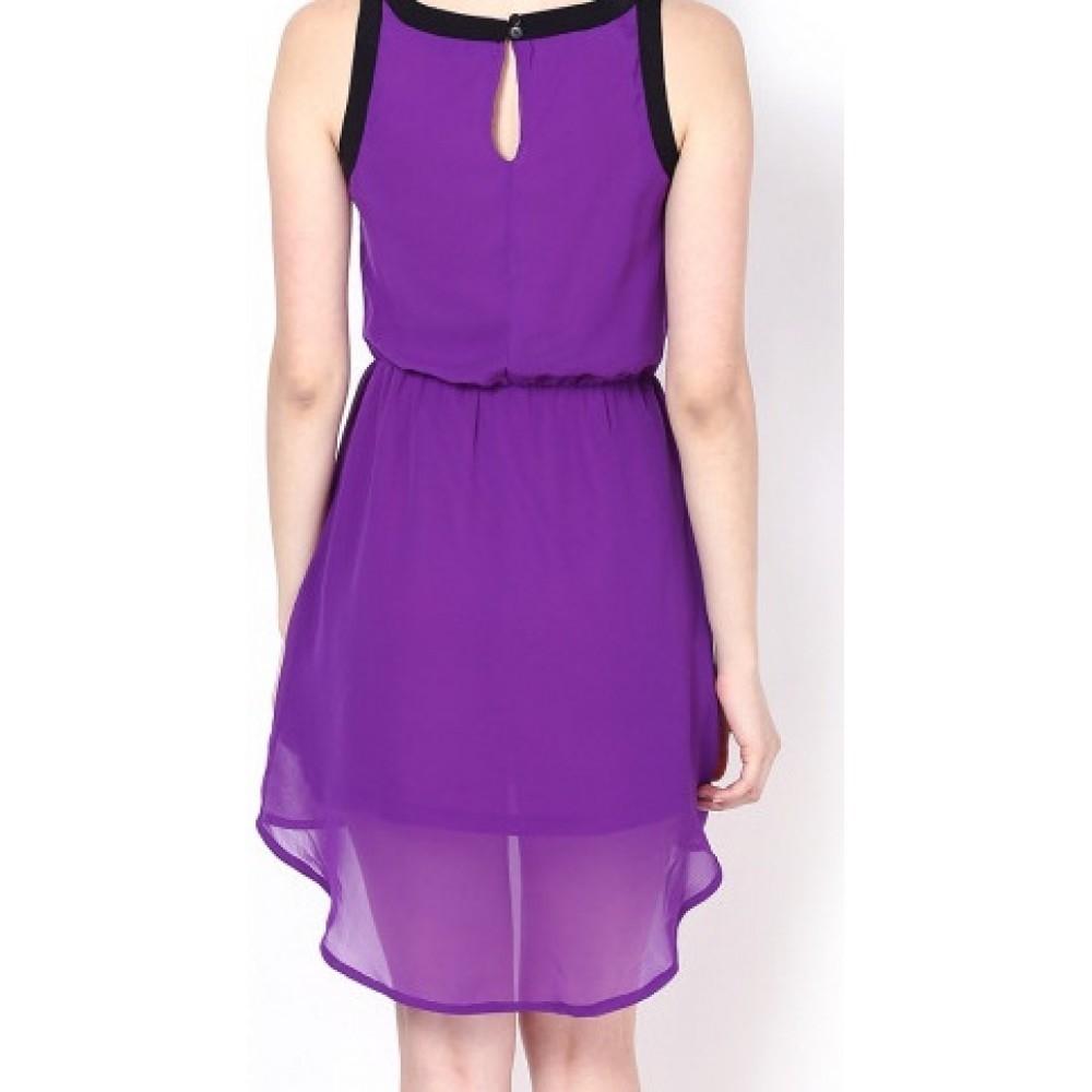 La Facon-purple-high-low-dress