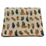 Cotton Kalamkari Handblock Saree BlouseKurti Fabric 100 cms - Hand Print - Cream Colour