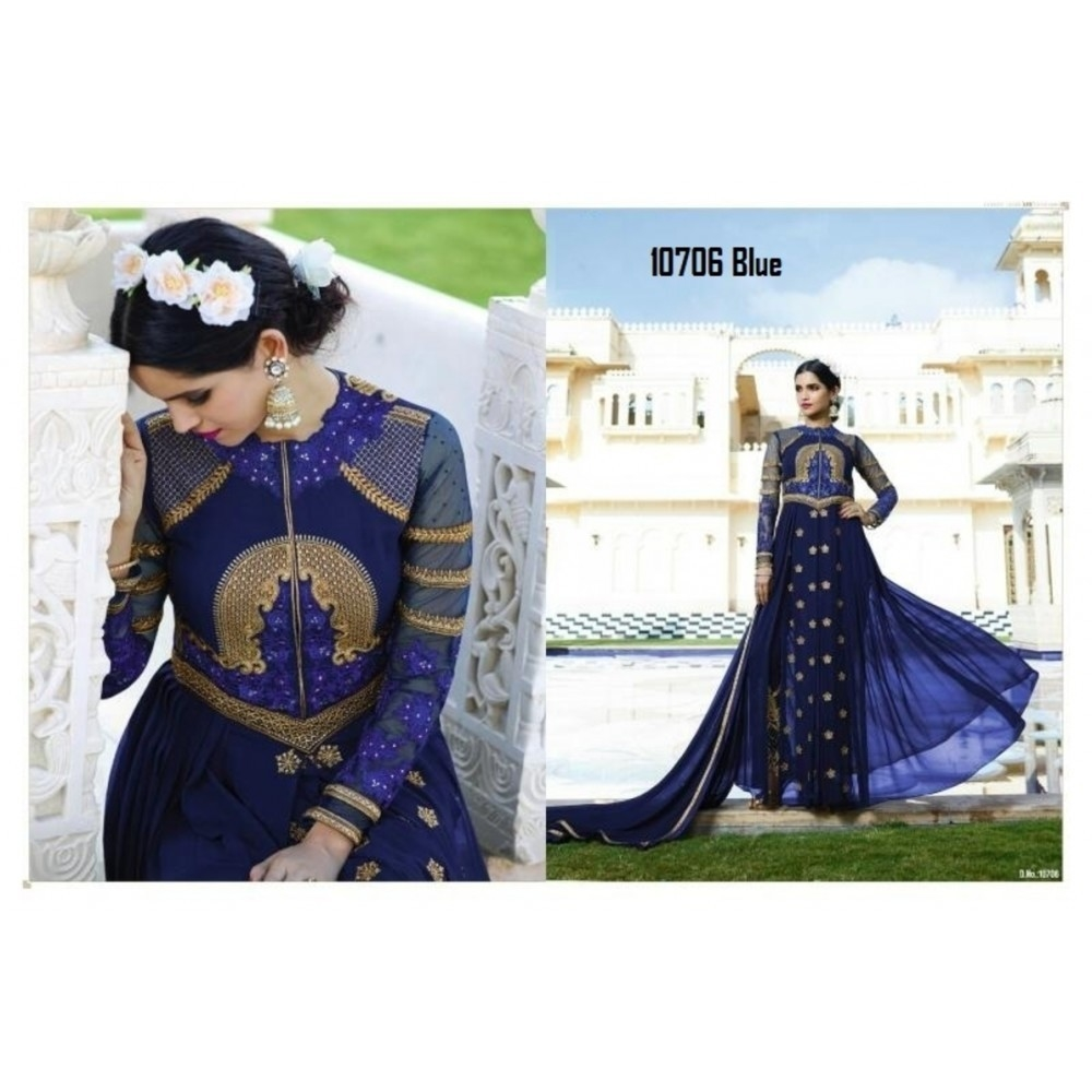La'Facon Royal Georgette Semi-Stitched Salwar Suit