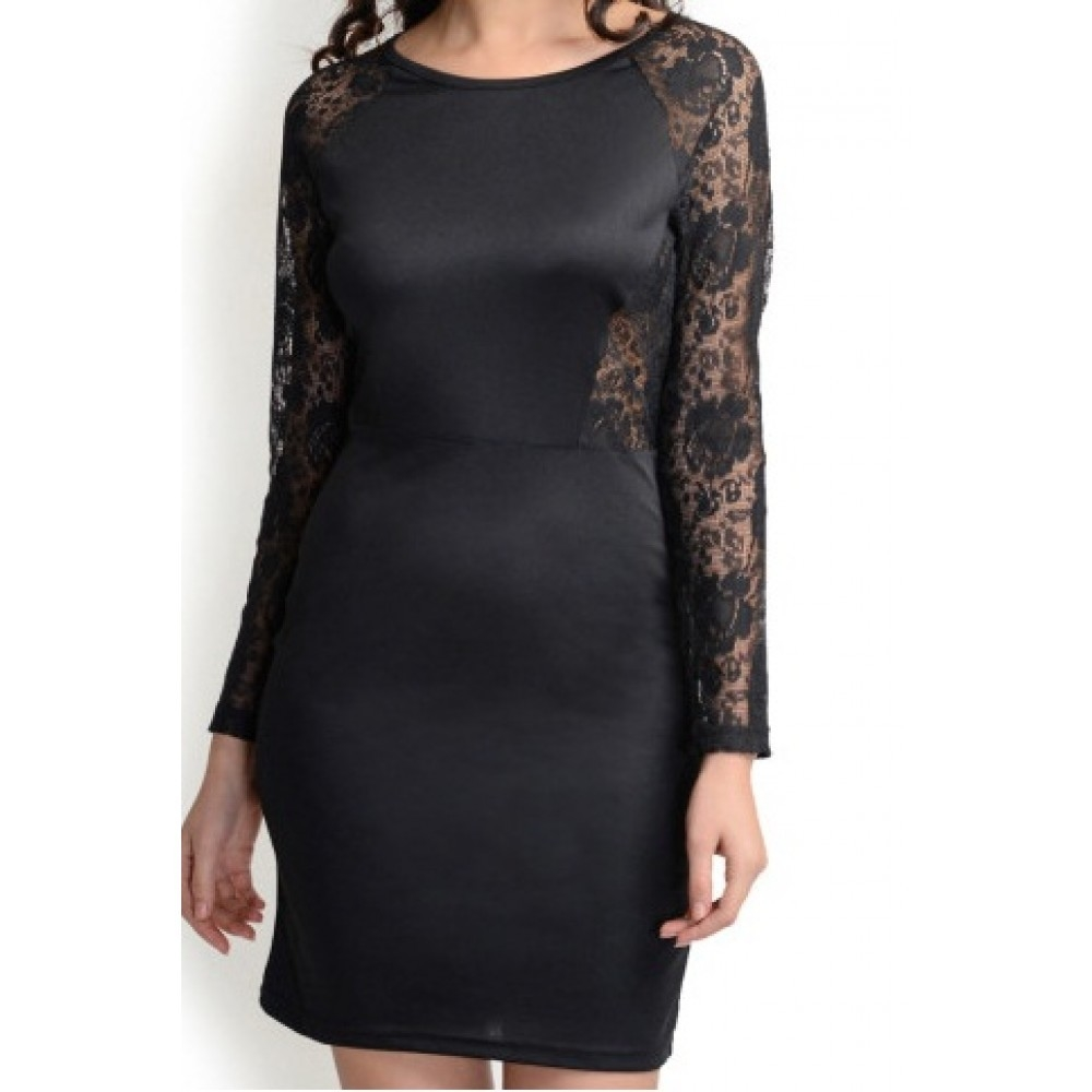 La Facon-black-lace-bodycon-dress