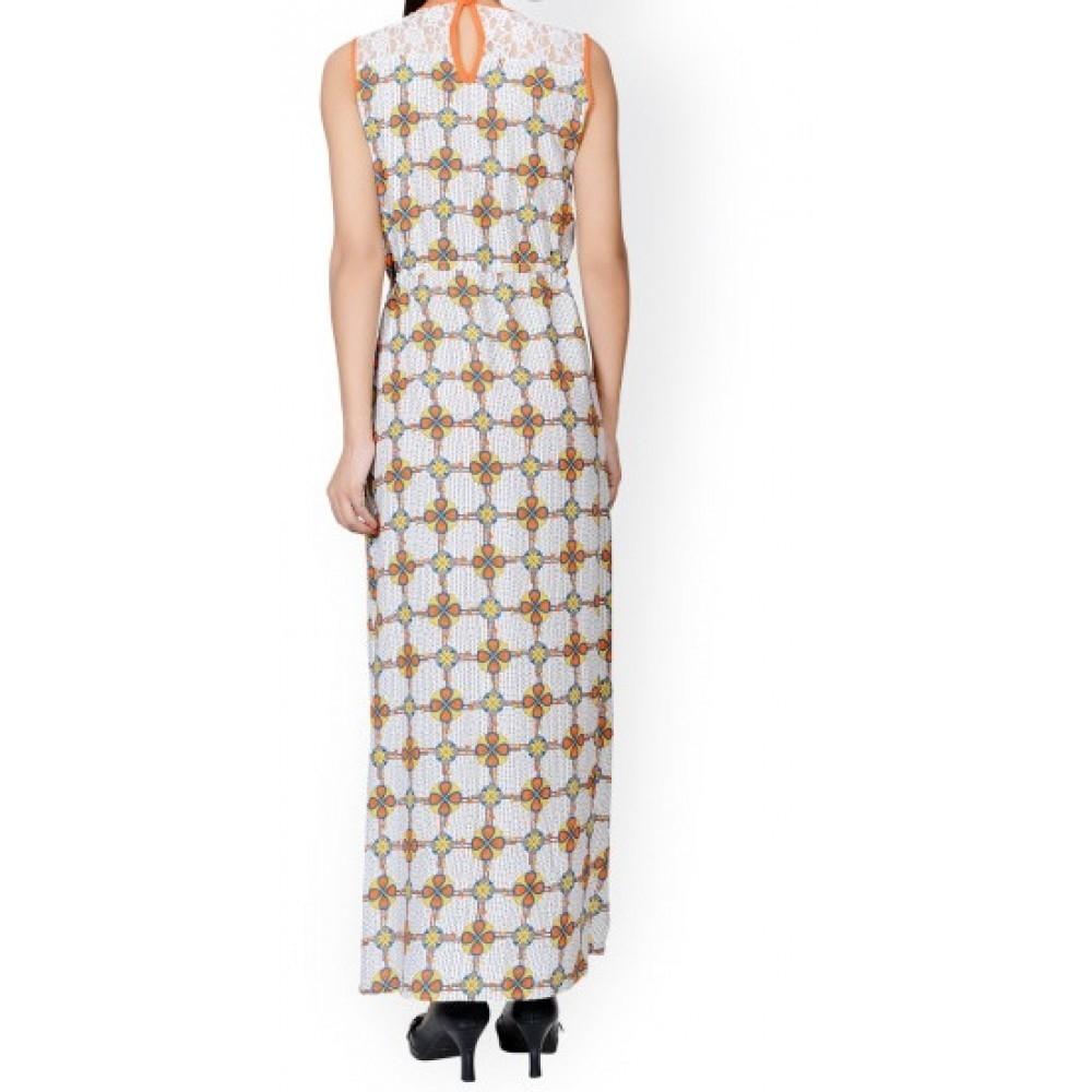 La Facon-Off-White Printed Maxi Dress