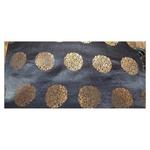 Black and Golden Floral Design Brocade Silk Fabric, Festival, (1 Meter) Gola Design