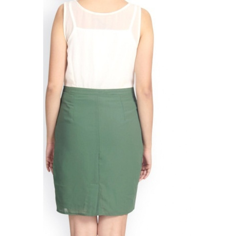 La Facon-off-white--green-sheath-dress
