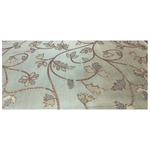 Pista Colour and Golden Floral Design Bamboo Jacquard Silk Fabric, Festival, (1 Meter)