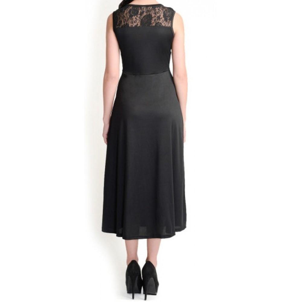 La Facon-black-midi-dress