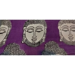 Cotton Kalamkari Handblock Saree Blouse/Kurti Fabric 100 cms Purple Colour - Budda Print