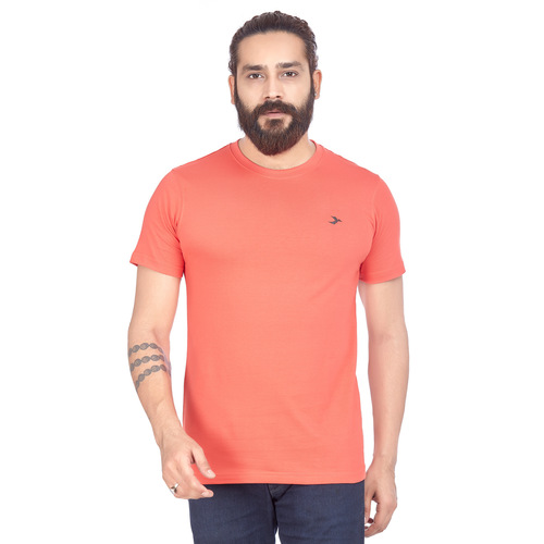 Mens Round Neck T-Shirt- Tomato
