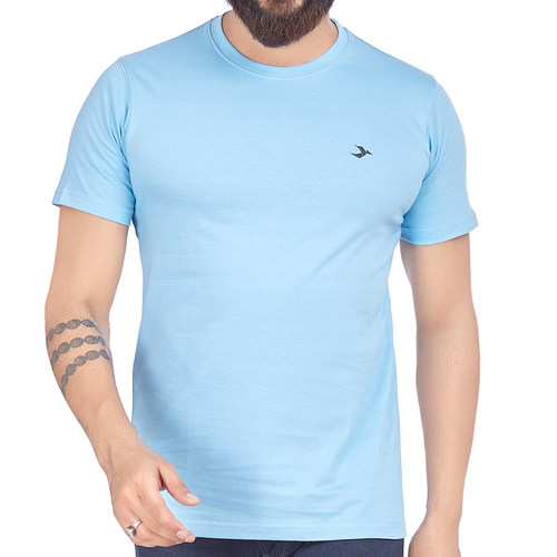 Mens Round Neck T-Shirt-Lt. Blue