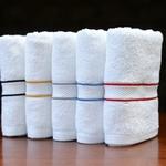 CORDING FACE TOWELS 33 X 33 CMS - SET OF 4